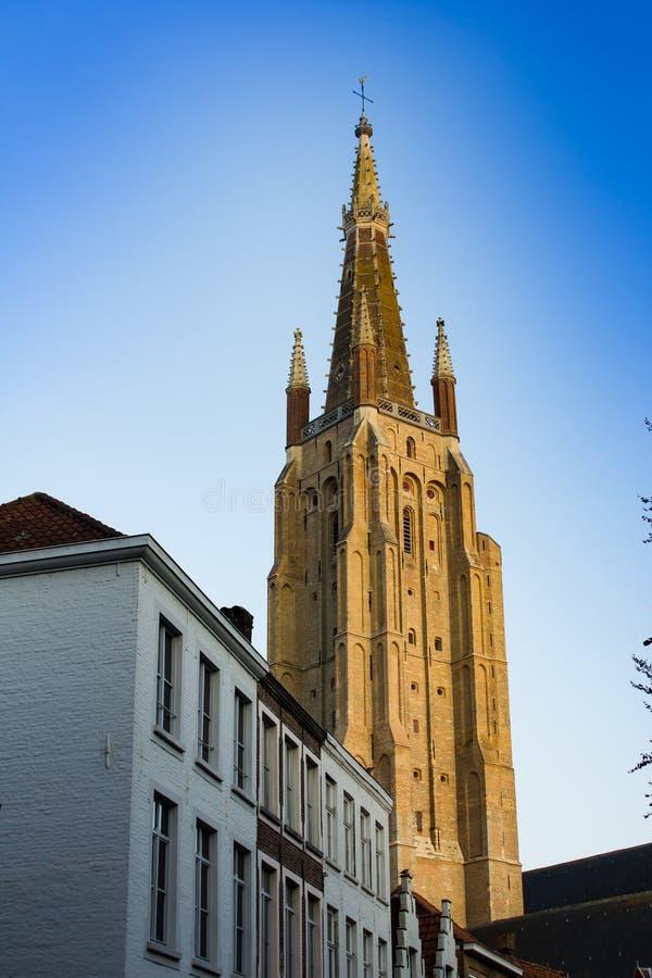 Chiesa della nostra signora, Bruges fotografia stock libera da diritti
