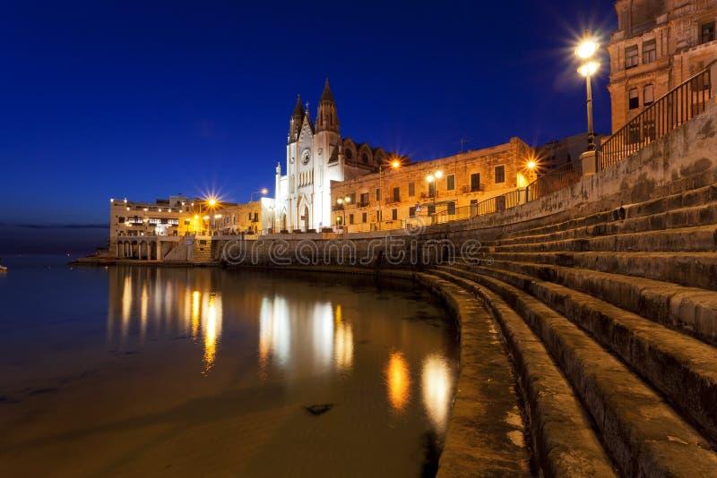 Chiesa della nostra signora del monte Carmelo in Sliema, Malta fotografia stock