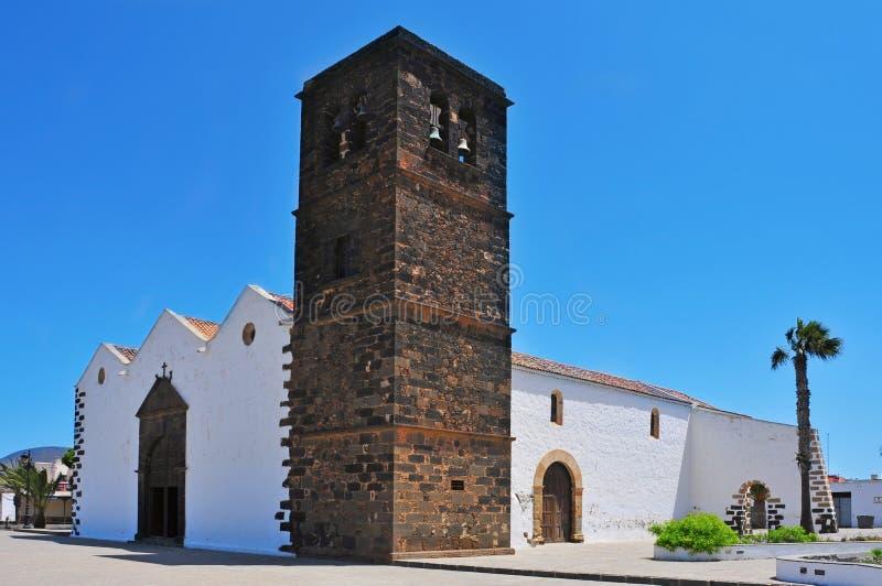 Chiesa della nostra signora di Candelaria in La Oliva immagini stock libere da diritti