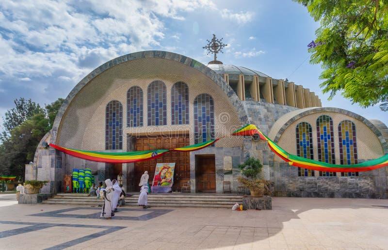 Chiesa della nostra signora di Zion in Axum, Etiopia fotografia stock