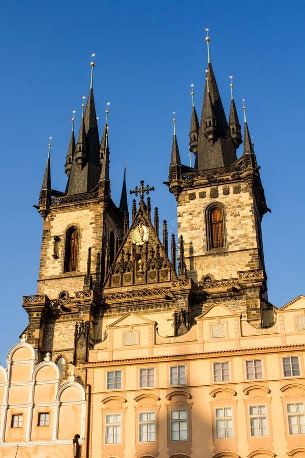 Chiesa della nostra signora prima del ½ N, Praga di TÃ fotografie stock
