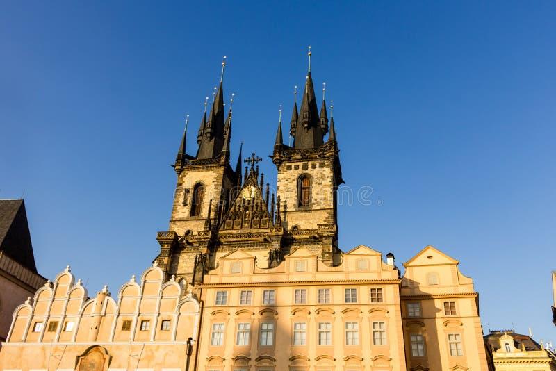 Chiesa della nostra signora prima del ½ n Praga di TÃ fotografia stock libera da diritti