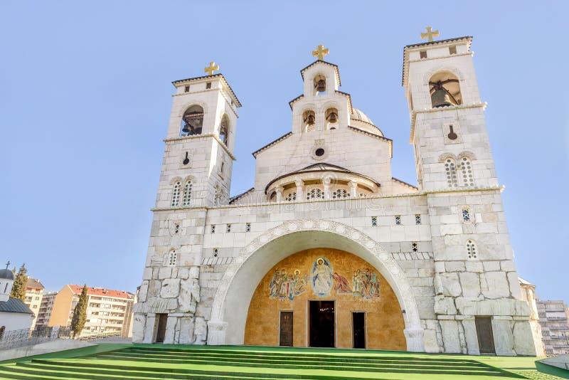 Chiesa della resurrezione di Cristo a Podgorica, Montenegro immagini stock libere da diritti