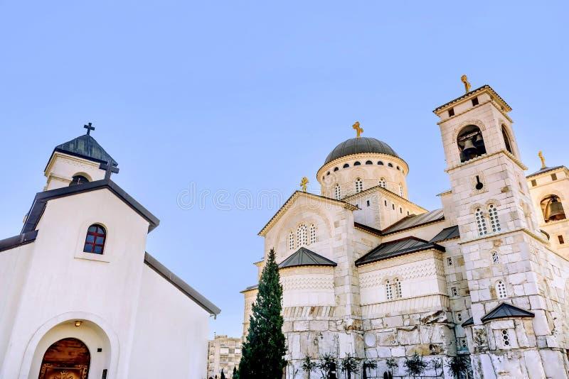 Chiesa della resurrezione di Cristo a Podgorica, Montenegro fotografia stock libera da diritti