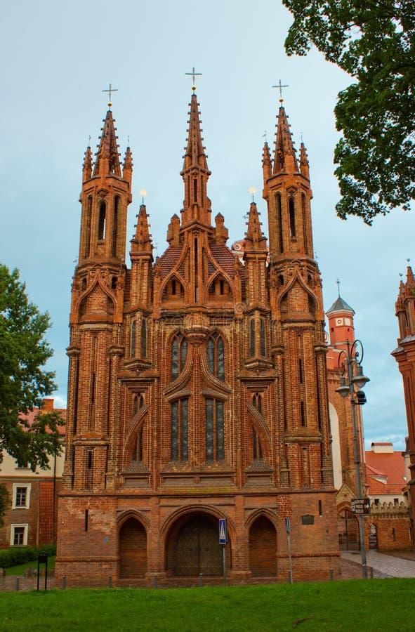 Chiesa della st Anne a Vilnius fotografia stock libera da diritti