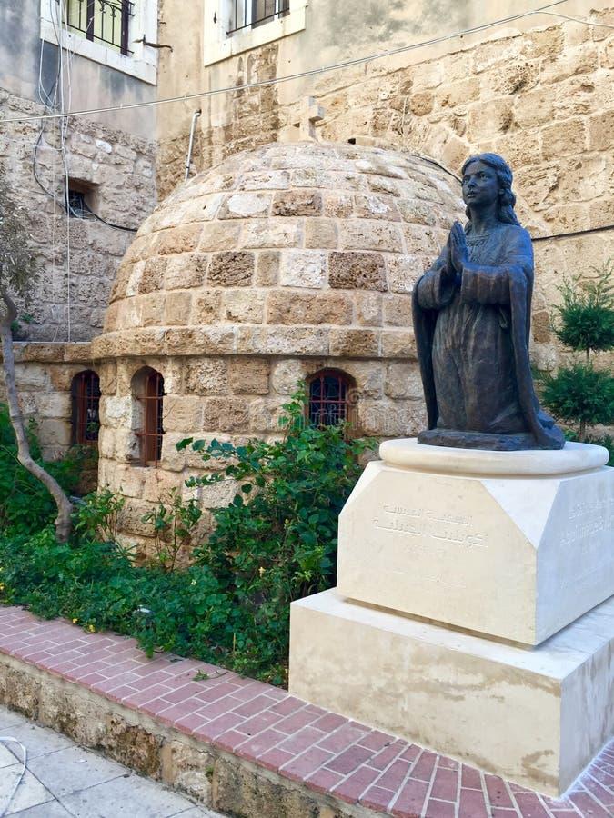 Chiesa della st Aquilina in Byblos, Libano fotografia stock