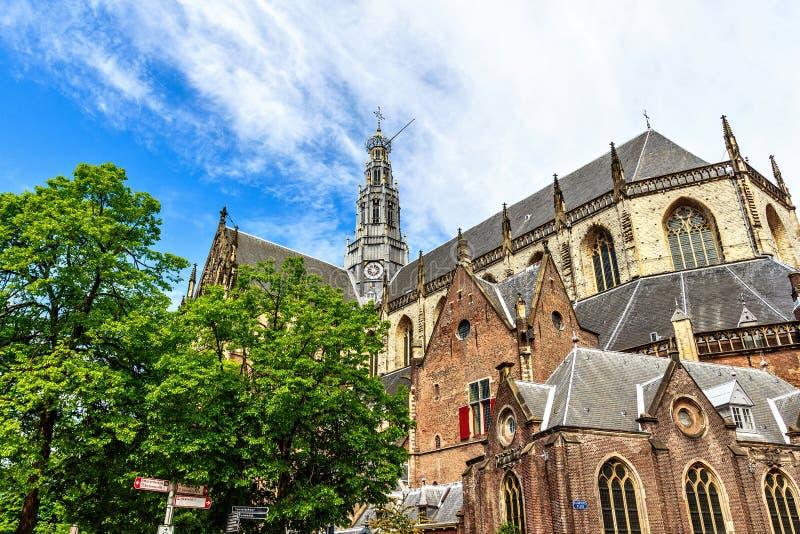 Chiesa della st Bavo dal fondo immagini stock libere da diritti