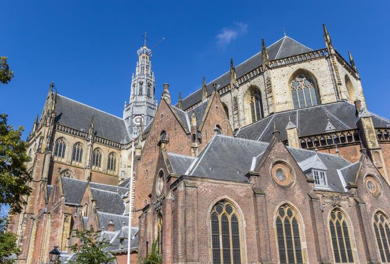 Chiesa della st Bavo nel centro di Haarlem fotografia stock libera da diritti