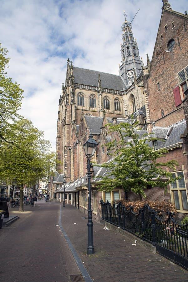 Chiesa della st Bavo nel centro di Haarlem, Paesi Bassi fotografia stock