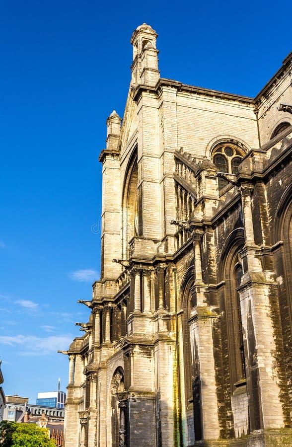 Chiesa della st Catherine a Bruxelles fotografia stock libera da diritti
