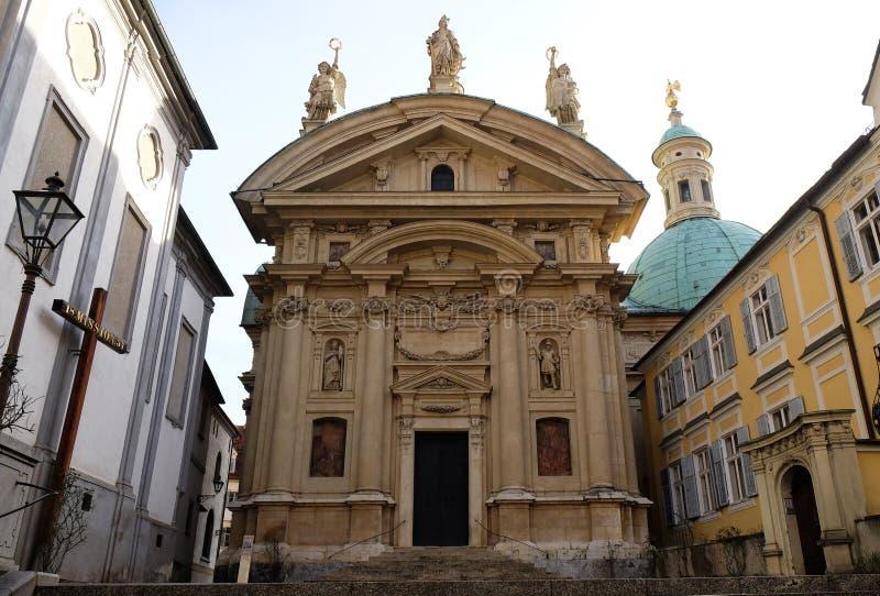 Chiesa della st Catherine e mausoleo di Ferdinand II, Graz fotografia stock libera da diritti