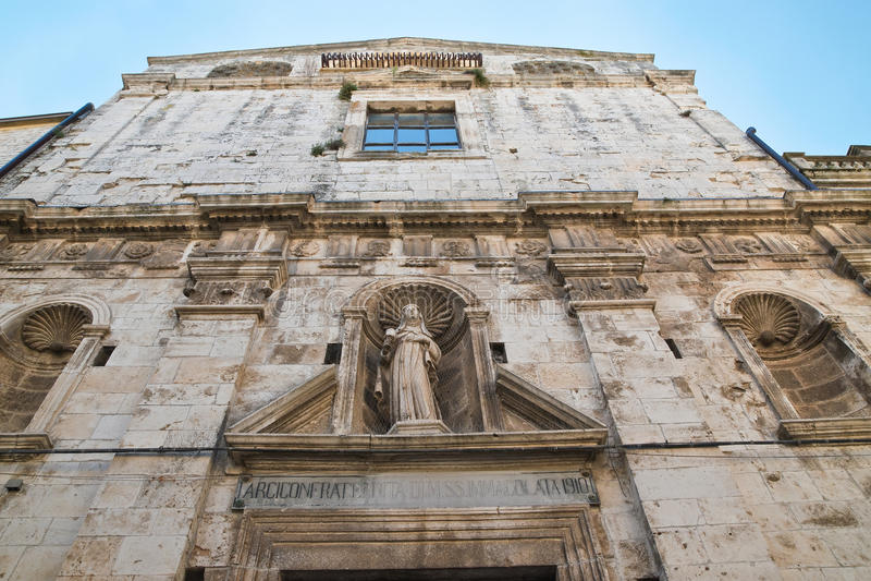 Chiesa della st Chiara Delle Fonti di Acquaviva La Puglia L'Italia fotografia stock