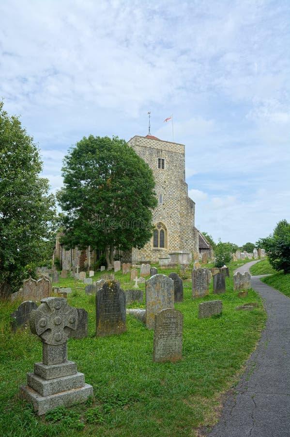 Chiesa della st & di St Andrew Cuthman, Steyning, Sussex immagine stock libera da diritti