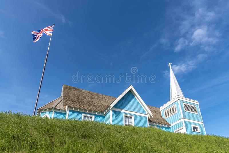Chiesa della st Edmund in grande valle, Alberta fotografie stock libere da diritti