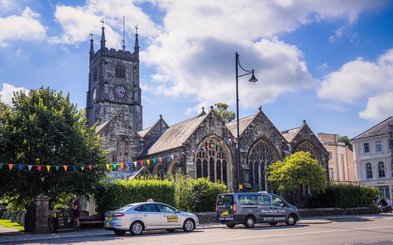 Chiesa della st Eustachius - Tavistock, Inghilterra, Regno Unito immagine stock libera da diritti