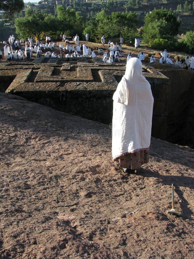 Chiesa della st George, Lalibela, Etiopia fotografia stock