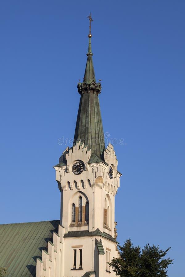 Chiesa della st Jadwiga in Debica fotografia stock