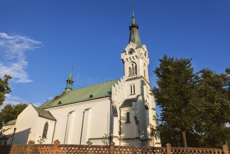 Chiesa della st Jadwiga in Debica fotografia stock libera da diritti