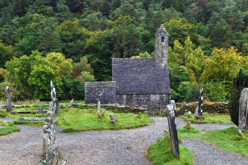 Chiesa della st Kevin in Glendalough, Irlanda fotografie stock