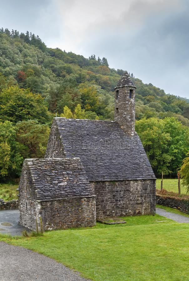 Chiesa della st Kevin in Glendalough, Irlanda immagine stock libera da diritti