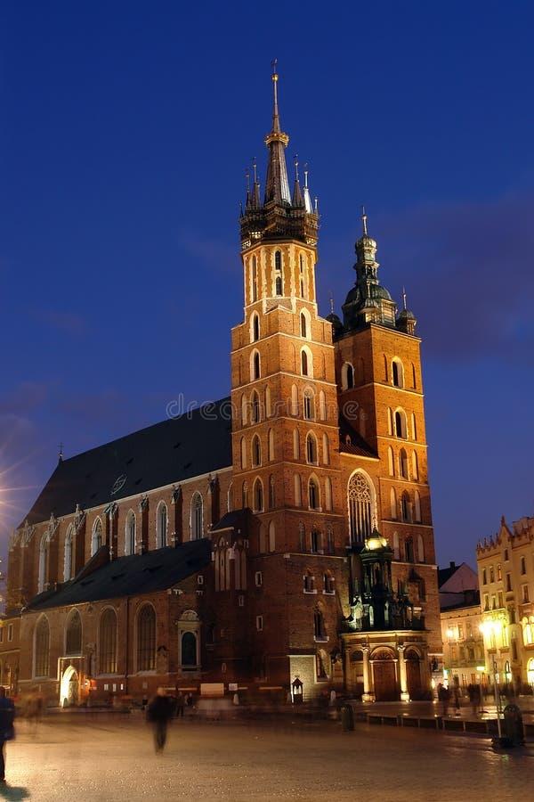Chiesa della st Mary entro la notte fotografia stock libera da diritti