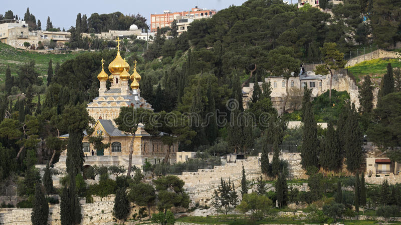 Chiesa della st Mary Magdalene, Gerusalemme, Israele fotografia stock libera da diritti