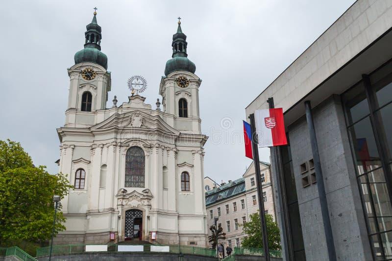 Chiesa della st Mary Magdalene Karlovy varia fotografie stock libere da diritti