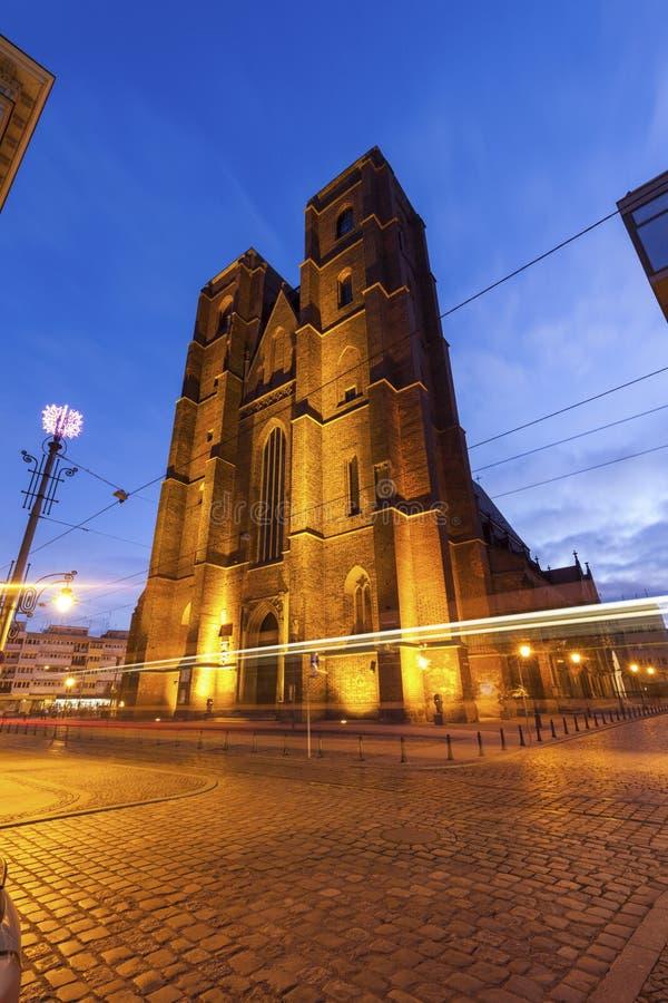 Chiesa della st Mary Magdalene a Wroclaw immagine stock