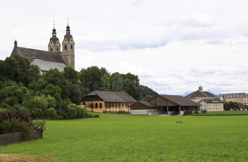Chiesa della st Marys in Maria Saal, Austria fotografia stock