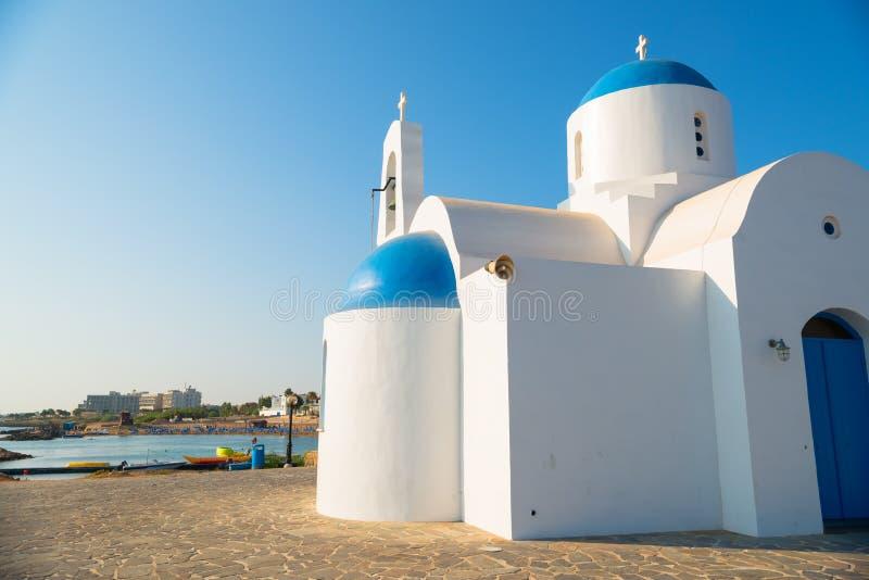 Chiesa della st Nicolas Protaras, Cipro immagini stock