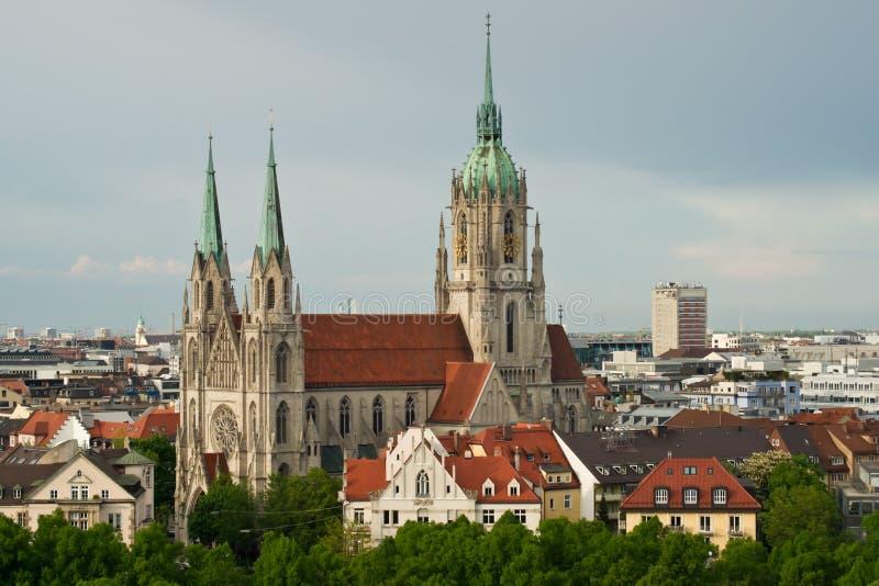 Chiesa della st Pauls a Monaco di Baviera fotografia stock libera da diritti