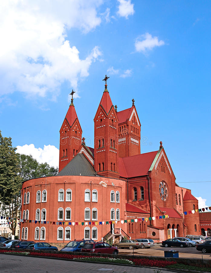 Chiesa della st Simeon e della st Elena a Minsk immagini stock libere da diritti