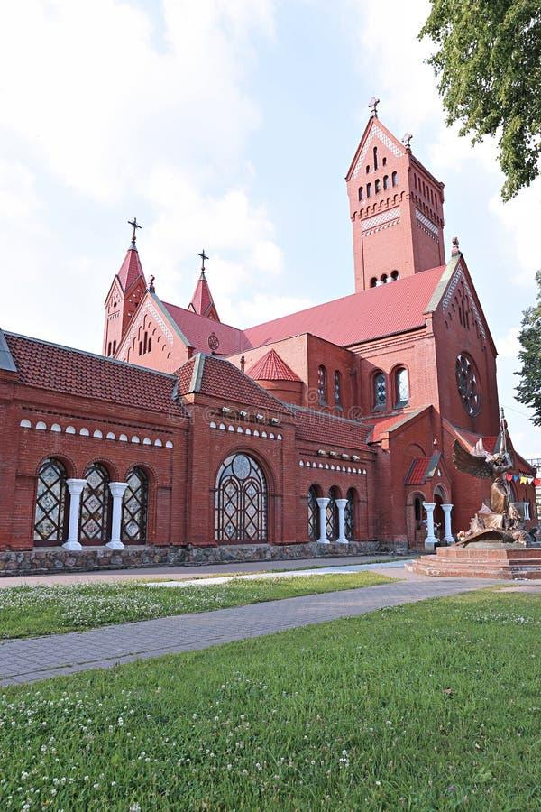 Chiesa della st Simeon e della st Elena a Minsk immagine stock
