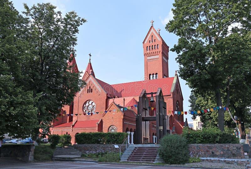 Chiesa della st Simeon e della st Elena a Minsk fotografia stock libera da diritti