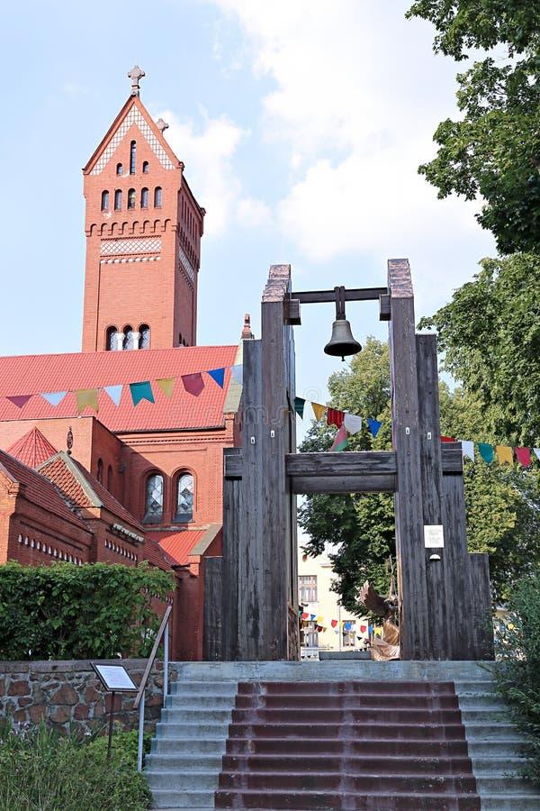 Chiesa della st Simeon e della st Elena a Minsk fotografie stock