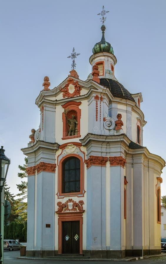 Chiesa della st Vaclava, Litomerice, repubblica Ceca fotografia stock libera da diritti
