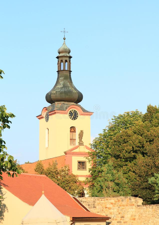 Chiesa della st Wenceslas in Budyne immagine stock libera da diritti
