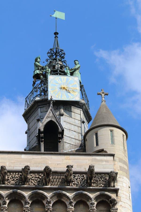 Chiesa della torre di Notre-Dame, Digione, Francia immagini stock libere da diritti