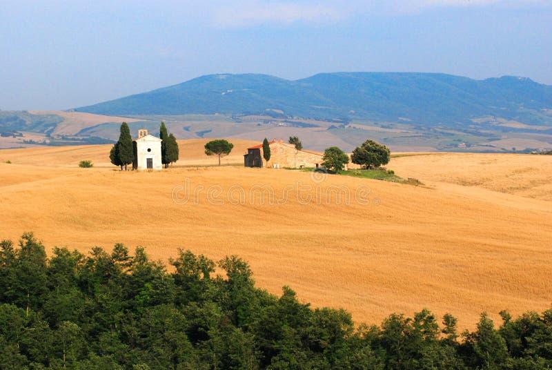 Chiesa della Toscana immagine stock