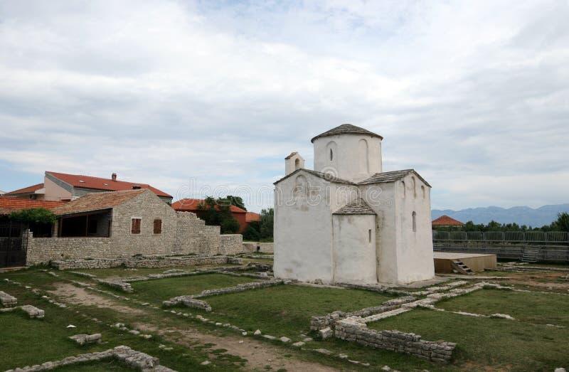 Chiesa della traversa santa, Nin, Croatia immagini stock