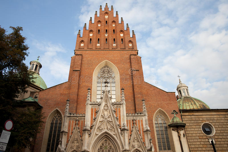 Chiesa della trinità santa a Cracovia fotografia stock libera da diritti