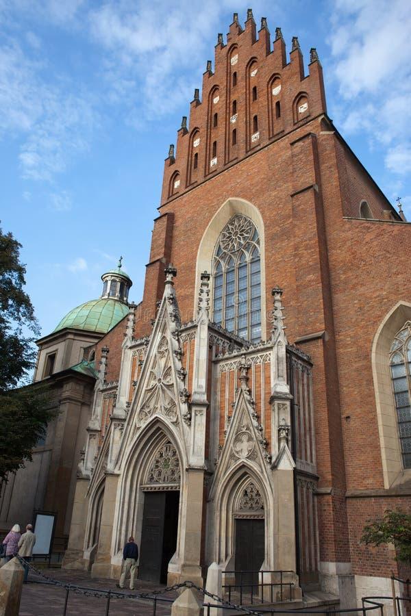 Chiesa della trinità santa a Cracovia immagini stock libere da diritti