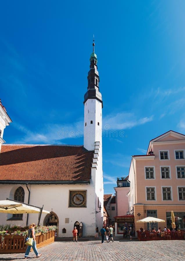 Chiesa dello Spirito Santo a Tallinn, Estonia fotografia stock libera da diritti