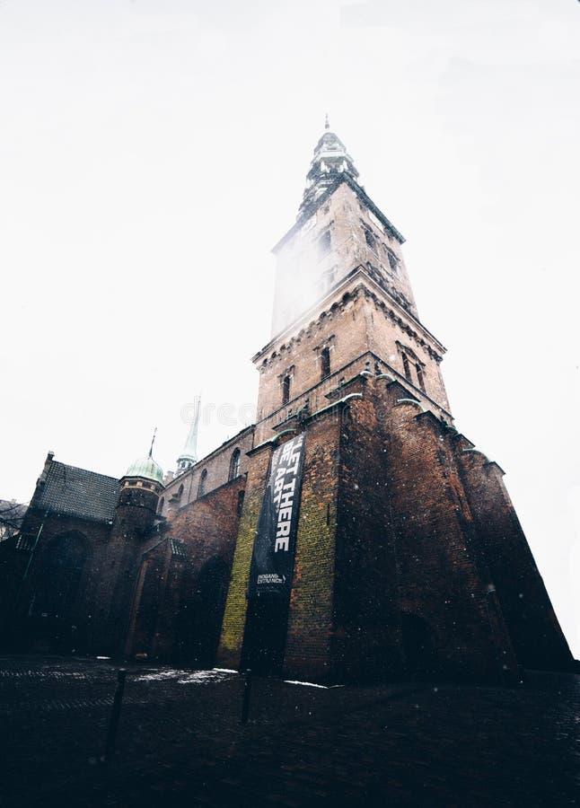 Chiesa dentro da Copenhaghen, Danimarca immagine stock