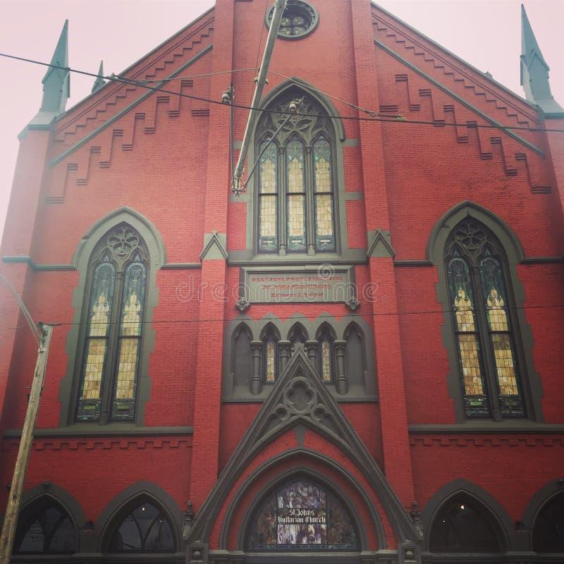Chiesa dentro sopra il Reno a Cincinnati immagini stock