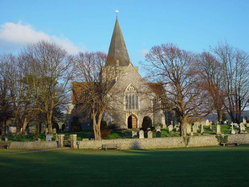 Chiesa di Alfriston, Alfriston, Sussex orientale immagine stock libera da diritti