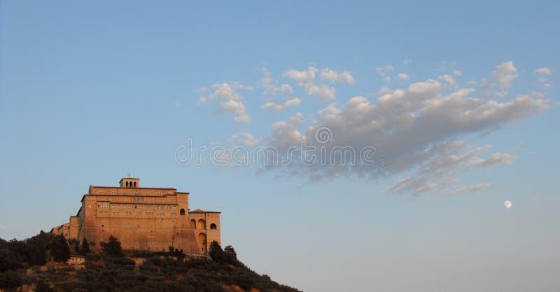 Chiesa di Assisi immagine stock libera da diritti