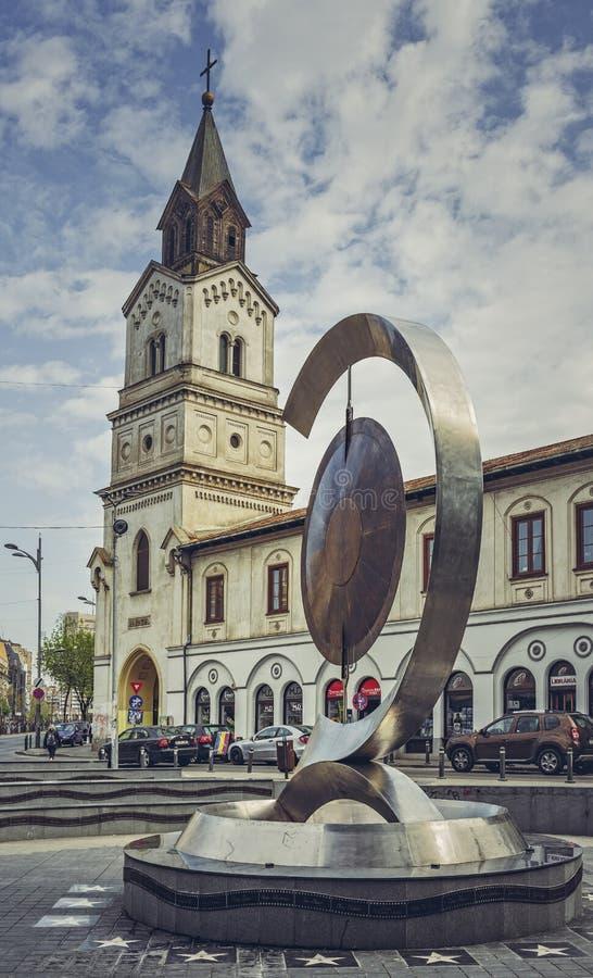 Chiesa di Baratia, Bucarest, Romania fotografie stock libere da diritti