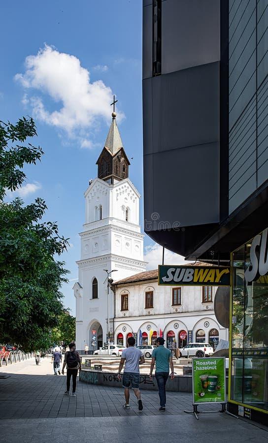 Chiesa di Baratia a Bucarest Romania fotografia stock libera da diritti