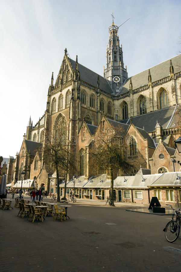 Chiesa di bavo della st, Haarlem, Paesi Bassi fotografia stock